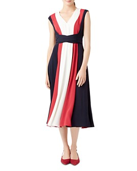 HOBBS LONDON - Bailly Tie-Waist Midi Dress