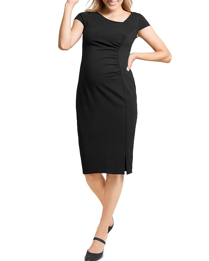 Ingrid & Isabel SHIRRED PONTE-KNIT MATERNITY DRESS