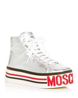 Moschino - Women's Logo High-Top Platform Sneakers