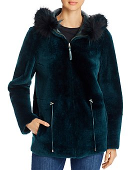 Maximilian Furs - Reversible Lamb Shearling & Fox Fur-Trim Hooded Jacket - 100% Exclusive