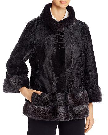 Maximilian Furs - Persian Lamb Fur & Mink Fur-Trim Short Jacket - 100% Exclusive