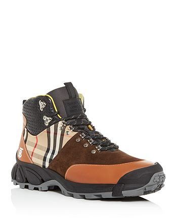 Burberry - Men's Tor Suede & Leather Boots