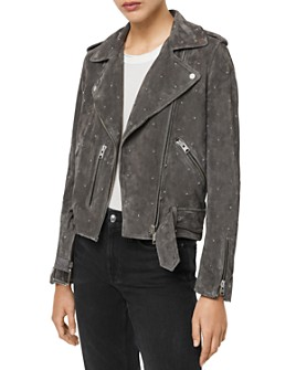 ALLSAINTS - ALLSAINTS X Balfern Star Suede Biker Jacket - 100% Exclusive