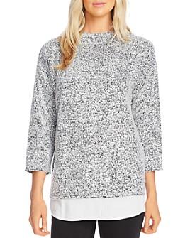 VINCE CAMUTO - Bouclé Shirttail Top