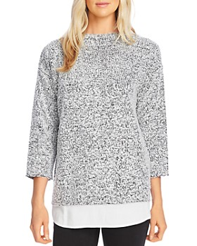 VINCE CAMUTO - Bouclé Shirttail Top