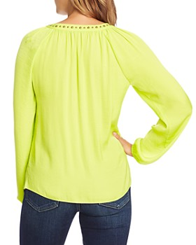 VINCE CAMUTO - Stud-Trimmed Satin Blouse