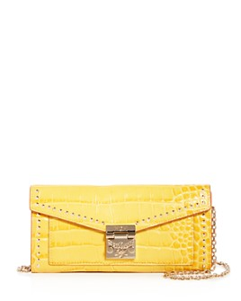 MCM - Patricia Croc-Embossed Leather Convertible Crossbody