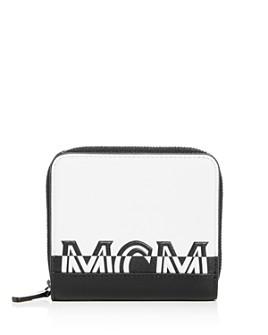 MCM - Two-Tone Logo Leather Zip Wallet
