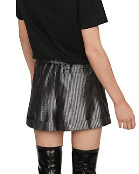 Maje - Ilery Pleated Metallic Shorts