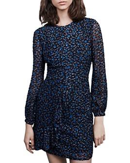 Maje - Revano Long-Sleeve Printed Dress