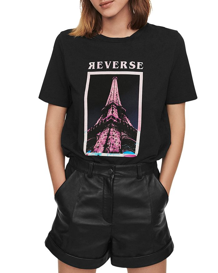 Maje - Eiffel Tower Tee