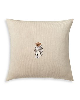 "Ralph Lauren - Flannel Bear Decorative Pillow, 18"" x 18"""