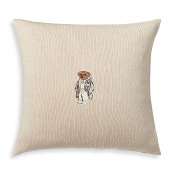 """Ralph Lauren - Flannel Bear Decorative Pillow, 18"""" x 18"""""""