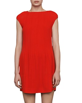 Maje - Rocka Pleated Boat-Neck Dress
