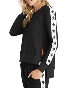 CHRLDR - Tuxedo Stars Side-Slit Sweatshirt