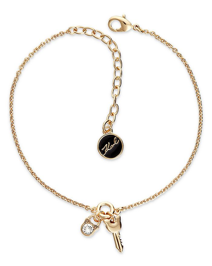 KARL LAGERFELD Paris - Mini Choupette Lock & Key Charm Bracelet