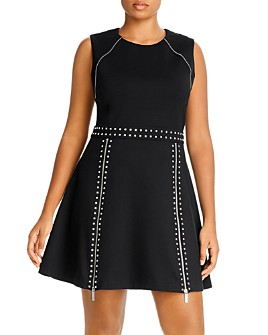 MICHAEL Michael Kors Plus - Studded Fit-and-Flare Mini Dress