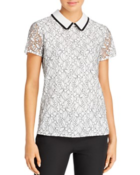 KARL LAGERFELD Paris - Lace Overlay Blouse