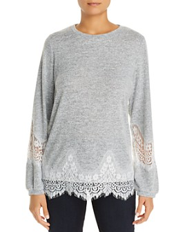 Alison Andrews - Lace-Trim Top