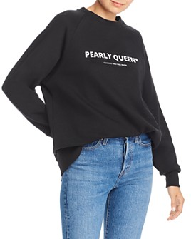 No Frills by Mother of Pearl - Oversized Pearly Queen Pullover Sweatshirt