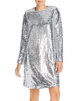 Notes du Nord - Sequin Mirror Shift Dress