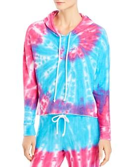 CHASER - Tie-Dye Cropped Hooded Sweatshirt - 100% Excluisve
