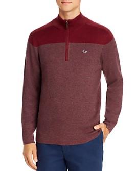 Vineyard Vines - Color-Block Striped Quarter-Zip Sweater