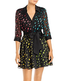 Alice and Olivia - Raja V-Neck Shirt Dress