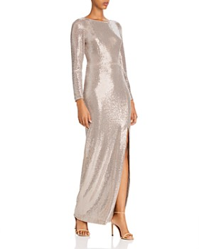 Eliza J - Sequin Long-Sleeved Gown