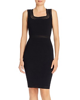 MILLY - Illusion Trim Bodycon Dress