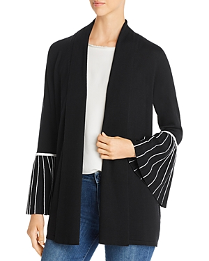 Elie Tahari Tops MORGAN BELL-SLEEVE CARDIGAN