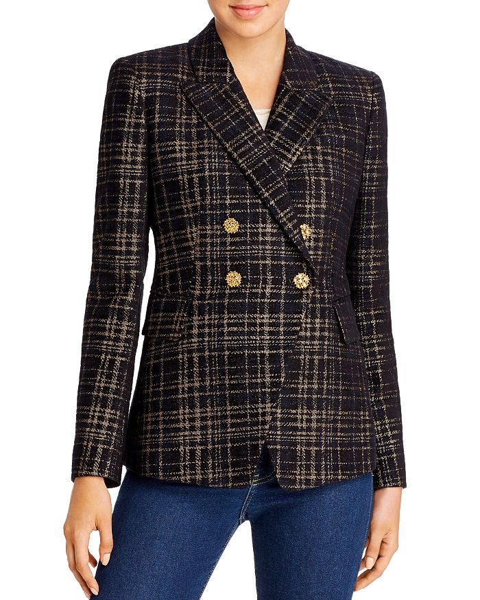 Elie Tahari - Jezebel Metallic Plaid Blazer