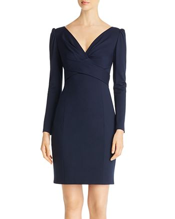 Elie Tahari - Zoe Crossover-Front Dress
