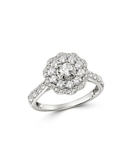 Bloomingdale's - Cluster Diamond Halo Ring in 14K White Gold, 1.0 ct. t.w. - 100% Exclusive