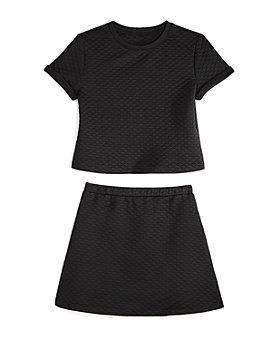 AQUA - Girls' Quilted Short Sleeve Top & Skirt, Big Kid - 100% Exclusive
