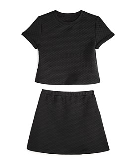 AQUA - Girls' Quilted Short Sleeve Top & Skirt, Big Kid - 100% Exclusive