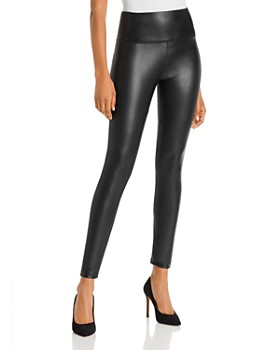 BAGATELLE.NYC - High-Rise Faux Leather Leggings - 100% Exclusive