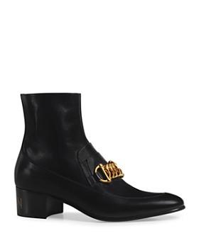 Gucci - Men's Leather Horsebit Chain Boots