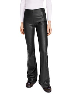 Free People - Penny Flared Faux Leather Pants