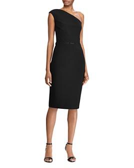 Ralph Lauren - One-Shoulder Bead Accent Jersey Dress - 100% Exclusive