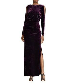 Ralph Lauren - Crushed Velvet Gown