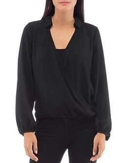 B Collection by Bobeau - Faux-Wrap Top