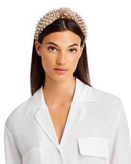 Lele Sadoughi - Embellished Velvet Knot Headband