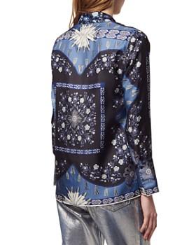 Sandro - Kim Printed Silk Shirt