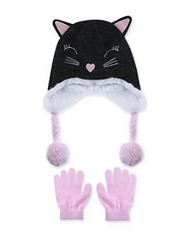 Capelli - Girls' Cat Hat & Gloves Set - Big Kid