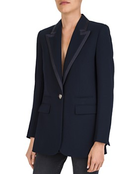 The Kooples - Single Heart-Shaped Button Crepe Blazer
