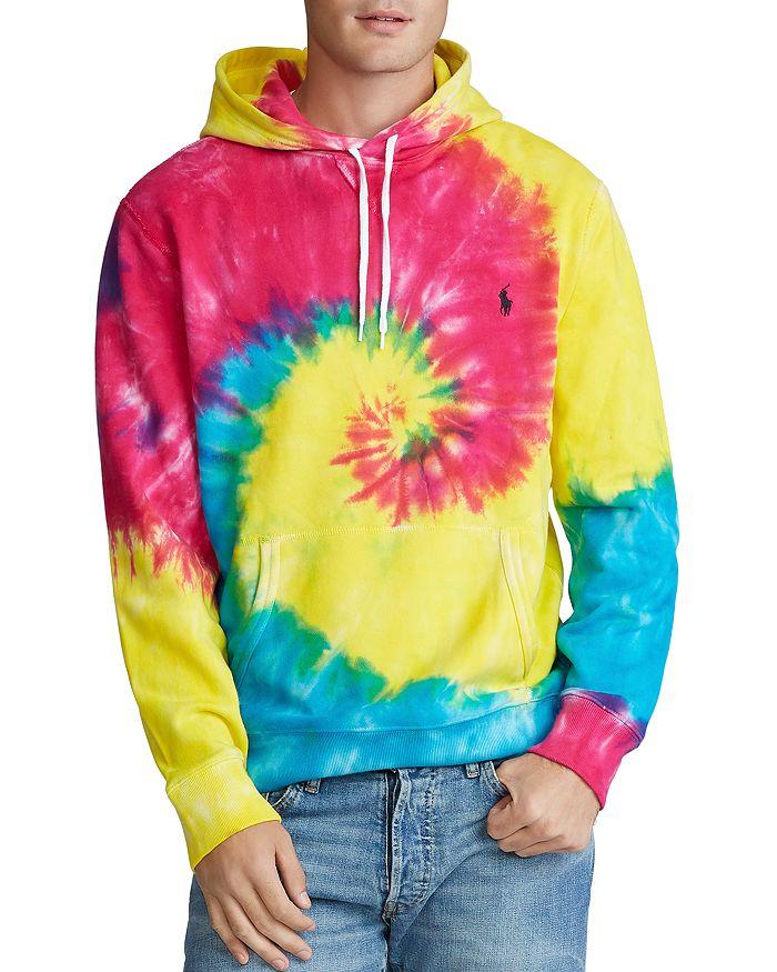 Polo Ralph Lauren Tie-dye French Terry Hooded Sweatshirt In Tie Dye Multi