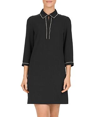 Gerard Darel Denys Bead-Trimmed Shirt Dress