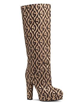 Gucci - Women's G Rhombus Platform Boots