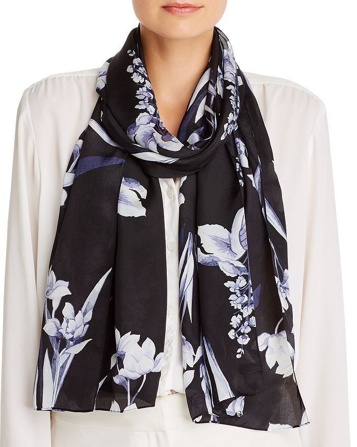 Echo FLORAL PAINTING SILK SCARF